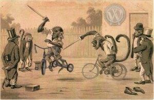 Monos en Triciclo